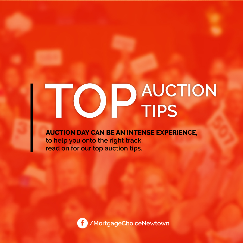 Top auction tips mortgage choice newtown blog mortgage for Auction advice
